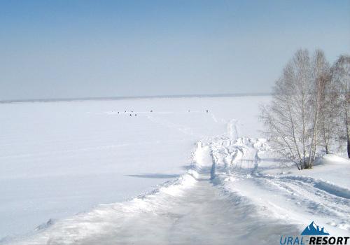 озеро Калды зимой