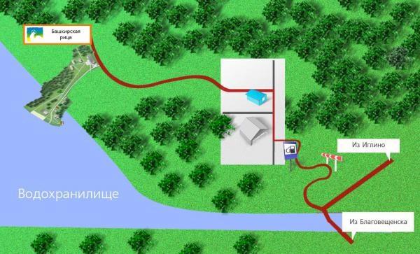 Карта Павловское Водохранилище